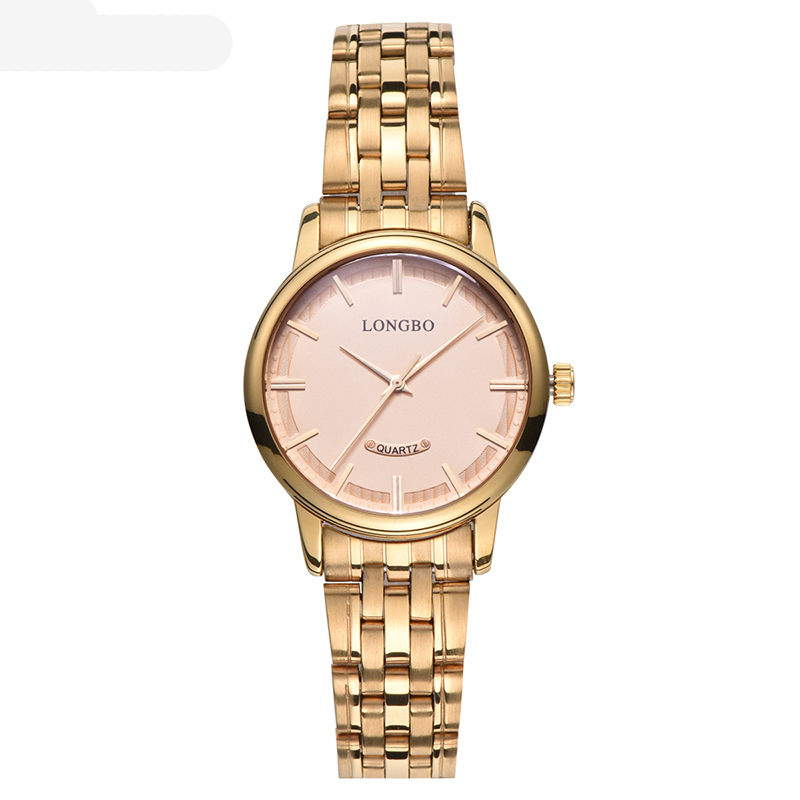 LONGBO Women Fashion Lovers Couple Casual Luxury Waterproof Style Stainless Steel Business Quartz Watches Wristwatches 80232 - intl