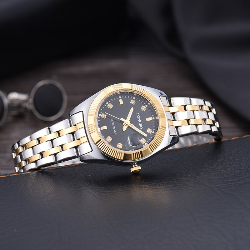 LONGBO Women Waterproof Luxury Stainless Steel Strap Business Watches Quartz Wrist Watch