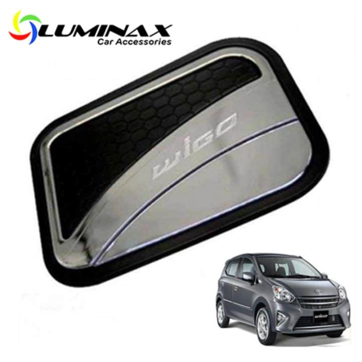 Luminax Toyota Wigo Two-Toned Gas Tank Cover For Car Gas Tank Cover