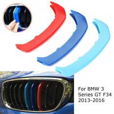 M Color Kidney Grille Cover Stripe Clip For Bmw 3 Series Gt F34 2013-2015 9 Slats - Intl By Five Star Store.