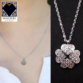 MACKRI Classic Silver Chain Necklace with Crystal Clover Pendant NXII16359 - picture 2