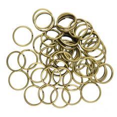 MagiDeal 50pcs 18mm Split Hoop Key Rings Key Chain Holder Antique Bronze DIY - intl
