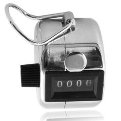 Manual Hand Tally Mechanical Palm 4 Digit Click Counter