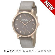 Marc by Marc Jacobs Women s MBM1266 Baker Rose-Tone Stainless Steel Watch  with Grey Leather 92c8bcdfbd
