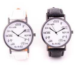 Math Lover Wrist Watch Bundle (Black and White)