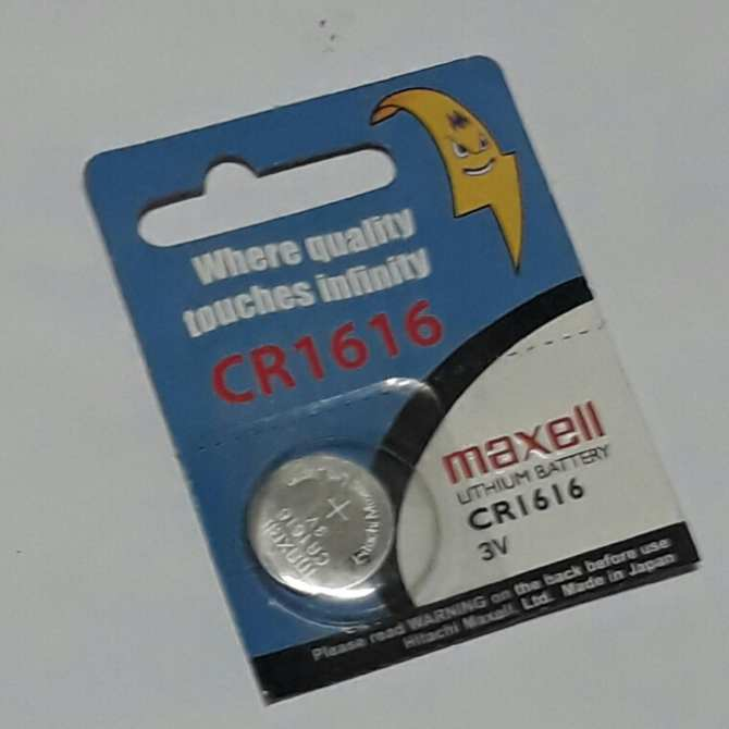 Maxell CR1616 Car Alarm Remote Controll Battery 1pc
