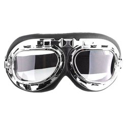 Men Motorcycle Helmet Goggles (Transparent)