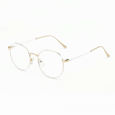 Men's Eyewear Fashion Vintage Retro Round Glasses White Frame Glasses Plain for Myopia Men Eyeglasses Optical