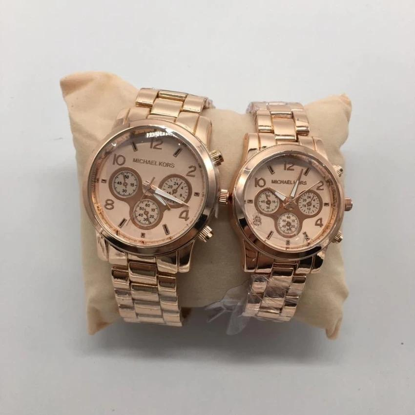 Michael Kors New York Stainless Steel StrapCouple Watch in Rose Gold