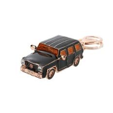Mini Black Car Type Keychain Pendant Car Key Ring Bag Ornaments - intl