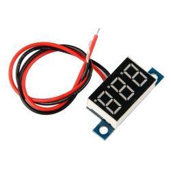 Mini Yellow LED Digital Voltmeter Volt Meter Panel 3.3-30V