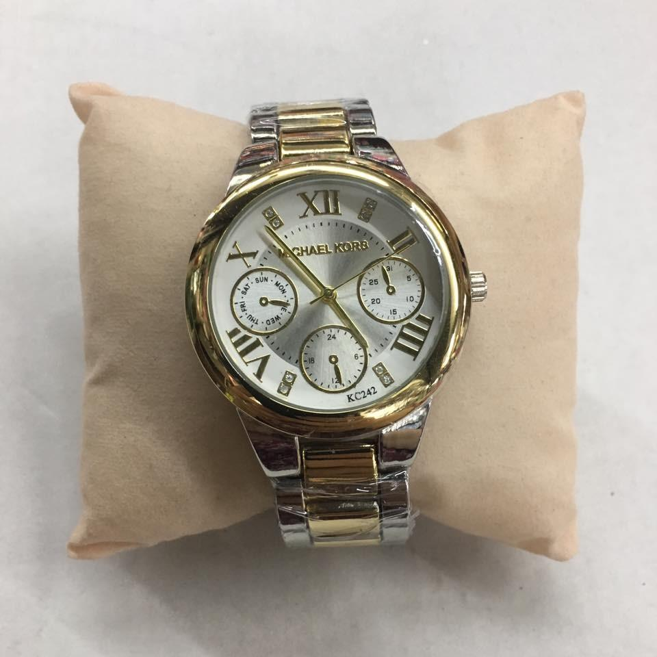 MK New York Stainless Steel Watch in Two Tone