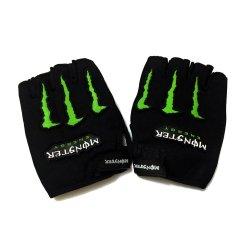 Monster Type Motor Protective Fingerless Gloves Set of 2 (Black)