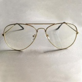 14128773cc8 Moonar Unisex Big Round Gold Metal Frame Glasses Oversize Clear lens  Vintage Retro Chic Eye Glasses - intl