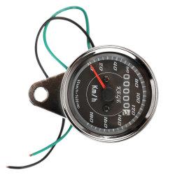 Motorcycle Classic Dual LED Odometer Speed Speedo Meter Gauge