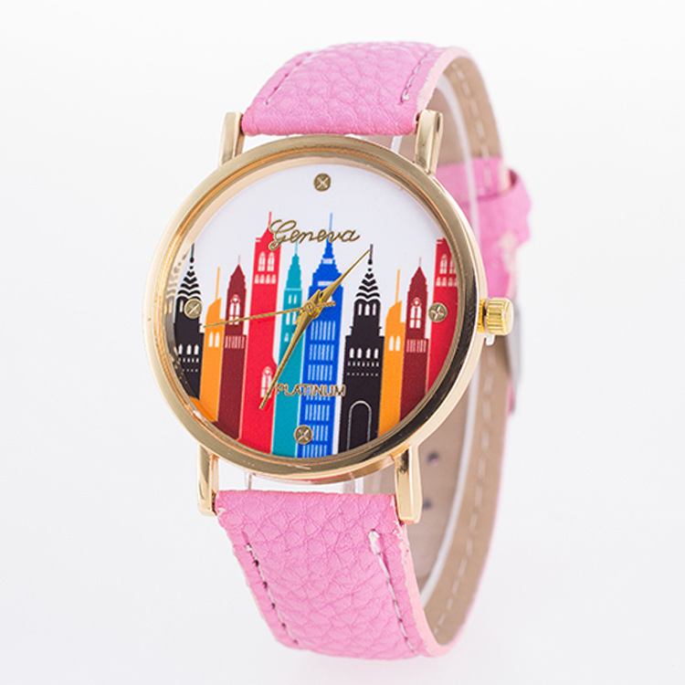 Ms. quartz watch colorful dial fashion wild strap watch - Intl product preview, discount at cheapest price