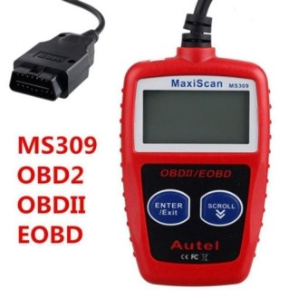 MS309 CAN BUS OBD2 Code Reader Obd2 OBD II Car Diagnostic Tool MS309 Code Scanner KW806 Diagnostic Scanner Kit - intl