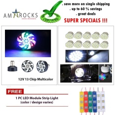 PHP 299. Multicolor 13 Chip SMD LEd Bulb Motorcycle Scooter Bike Brake Light Stop Light Tail Light Universal Compatible ...