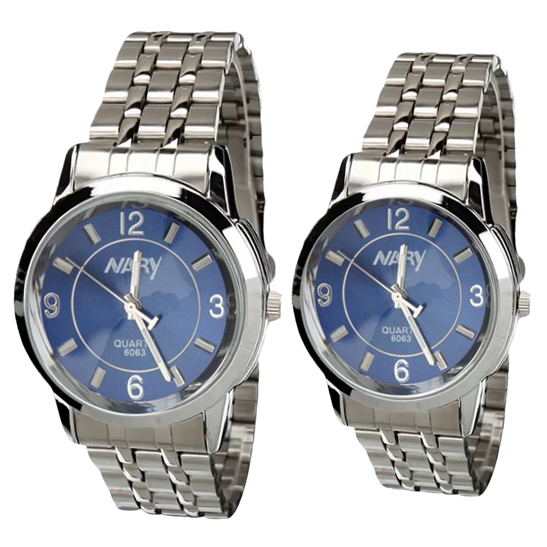 NARY Lovers Silver/Blue Stainless Steel Strap Watch 6063 product preview, discount at cheapest price