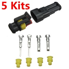 New Car Part 2 Pin Way Sealed Waterproof Electrical Wire Auto Connector Plug Set - Intl By Threegold.