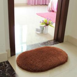 New Slip-Resistant Pad Room Oval Carpet Floor mats 40*60CM Coffee