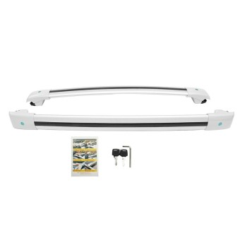 New Top Roof Rack Cross Bar For Jeep Cherokee 2014 2015 2016 2017 Black Color (White) - intl