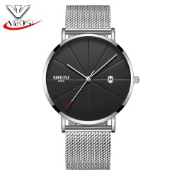 NIBOSI WATCH Europe and the United States, Ladies and Gentlemen, Fashion Trends, Personality, Atmosphere Watch, Lovers Belt, Leisure Quartz Watch - intl