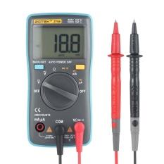Niceeshop Digital Multimeter, Auto Ranging Pocket Digital Multimeter Digital Multi Tester - Ac Dc Voltage Dc Current Resistance Diodes Capacitance Transistor Backlit Lcd Measuring Instrument (zt98) - Intl By Nicee Shop.