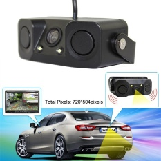 Night Vision Camera Monitor 2led Car Rear View Camera With Radar Parking Sensor - Intl By Vivimall.