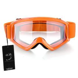 OEM Helm Dengan Goggle Pelindung - Oranye