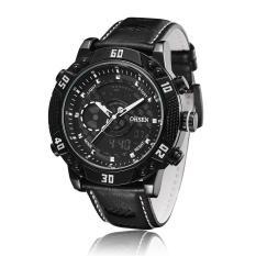 OHSEN Watches Men Luxury Brand Digital Quartz 30M Waterproof Analog Leather Strap Military Watch Relogio Clock