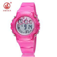 OHSEN Multi-Function Boys Sports Watch Children Digital Waterproof Watches Kids Rubber Fashion Sport Quartz