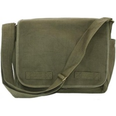 Olive Green Original Heavyweight Classic Military Messenger Bag with Army  Universe Pin - intl c9a62fc24fd