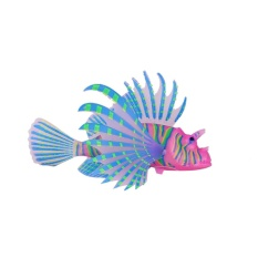 Oscar Store Pet Supplies Aquarium Artificial Luminous Lionfish Style Silicone Floating Fish Tank Decor - Intl By Oscar Store.