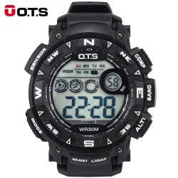 OTS Top Luxury Brand Sports Watches For Men Digital Watch Army Military Clock Waterproof Men's Wristwatches Relogios Masculinos 7000 - intl