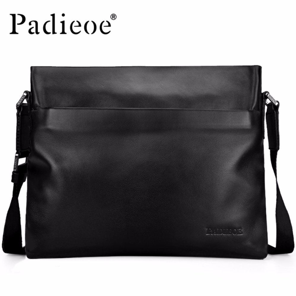 6cec1fd811 Padieoe High Quality Cow Leather Men s Shoulder Bags Famous Brand Genuine  Leather Bags For Male Casual
