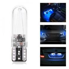 Pair Of 8-28v W5w T10 Glass Cob Filament Car Reading Drl Turn Signal Bulb (blue Light) - Intl By 1buycart.