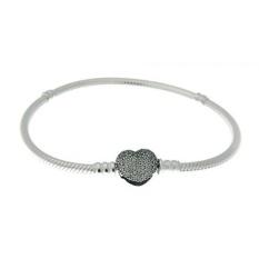 5bbf6262b ... charms list PANDORA 590727CZ-20 Sterling Silver Pave Heart Clasp  Bracelet, ...