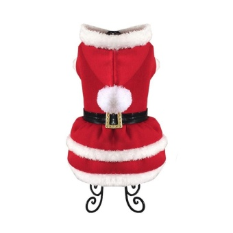 Pet Clothes Christmas Dress - Red L - intl