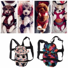 b54ddbbf61c Pet Dog Backpack Carrier Puppy Pouch Dog Front Bag Back Pack Legs Out(S)