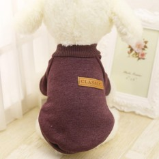 Pet Dog Puppy Sweater Fleece Sweater Clothes Winter Warm Sweater - Size L Taupe - Intl By Ifreein