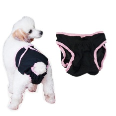 Pet Dog Puppy Washable Cotton Sanitary Physiological Menstrual Panties Underwear Diaper Pant - Size M (