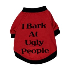 Pet Winter Clothes Puppy Dog Cat Vest T Shirt Coat Dress Sweater Apparel I Bark, Red Xs - Intl By Lapurer.