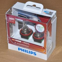 Philips X-treme Vision H11 headlight replacement bulb PAIR