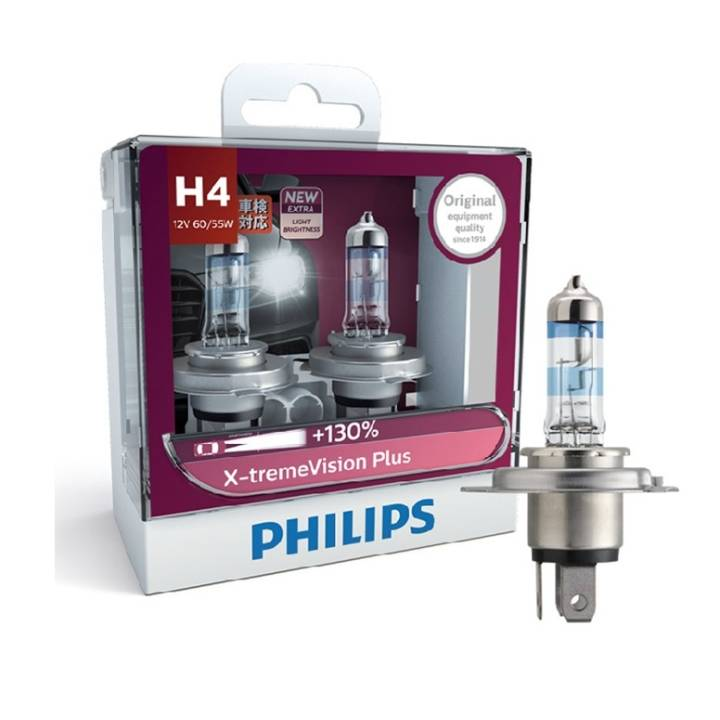 philips x treme vision plus 130 h4 headlight bulb pair. Black Bedroom Furniture Sets. Home Design Ideas