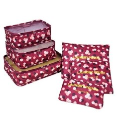 Phoebe's 6 in 1 Travel Laundry secret pouch Clothes Luggage Organizer Set Packing cube (Daisy