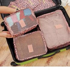 Phoebe's 6 in 1 Travel Laundry secret pouch Clothes Luggage Organizer Set Packing cube (Leopard