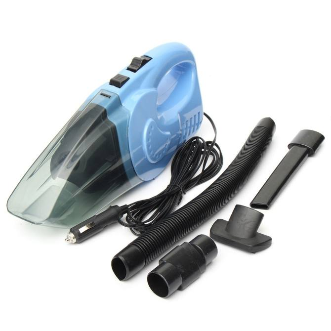 Portable Handheld Car Vacuum Cleaner High Power Super Suction Wet Dry Car Care Kits 120W (Blue)