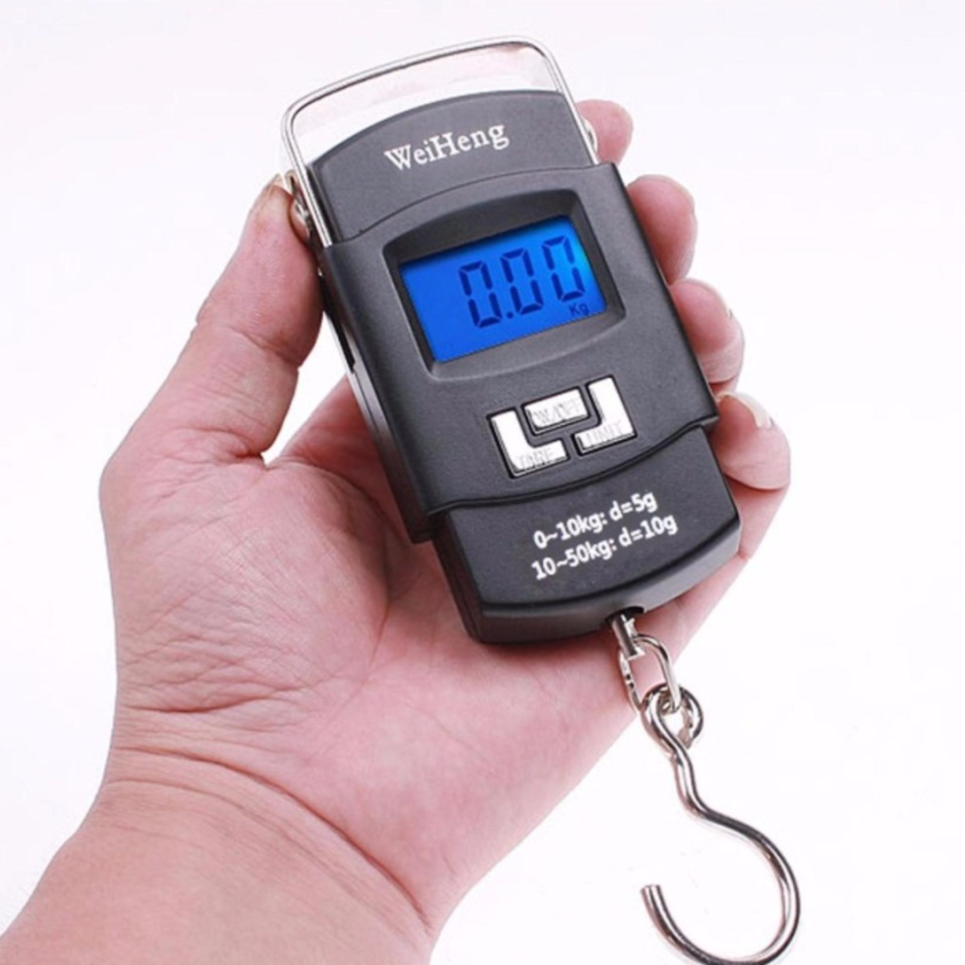 bc761a7b96c6 Portable Hanging Electronic Digital Weighing Scale 50kg WH-A08