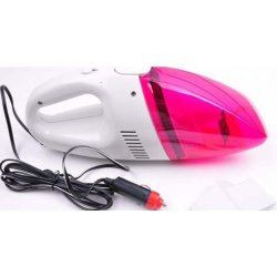 Portable Vacuum Car Cleaner (Pink)